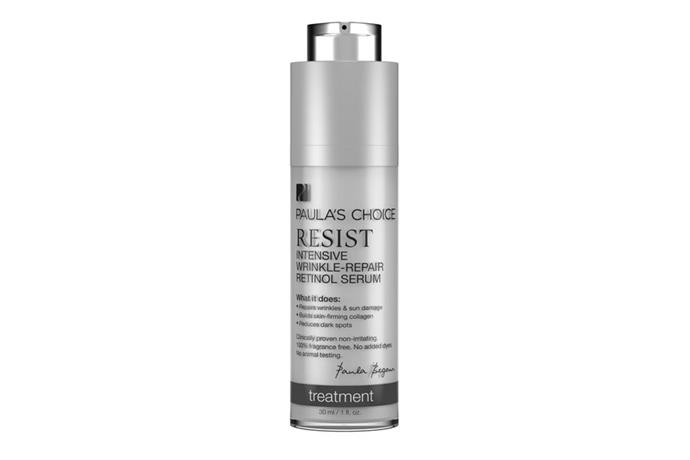 "**Resist Intensive Wrinkle—Repair Retinol Serum, $52 at [Paula's Choice](https://www.paulaschoice.com.au/resist-intensive-wrinkle-repair-retinol-serum/771.html|target=""_blank""