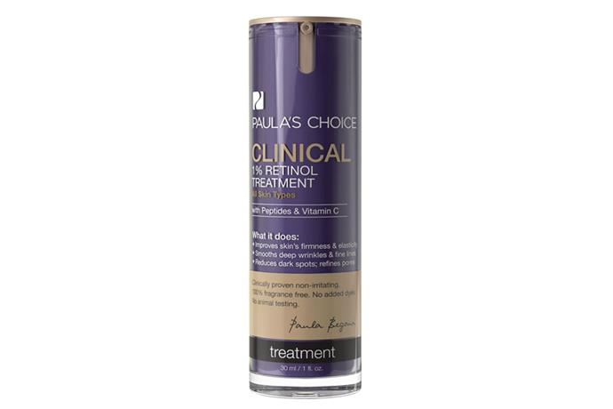 "**Clinical 1% Retinol Treatment, $77 at [Paula's Choice](https://www.paulaschoice.com.au/clinical-1pct-retinol-treatment/801.html|target=""_blank""