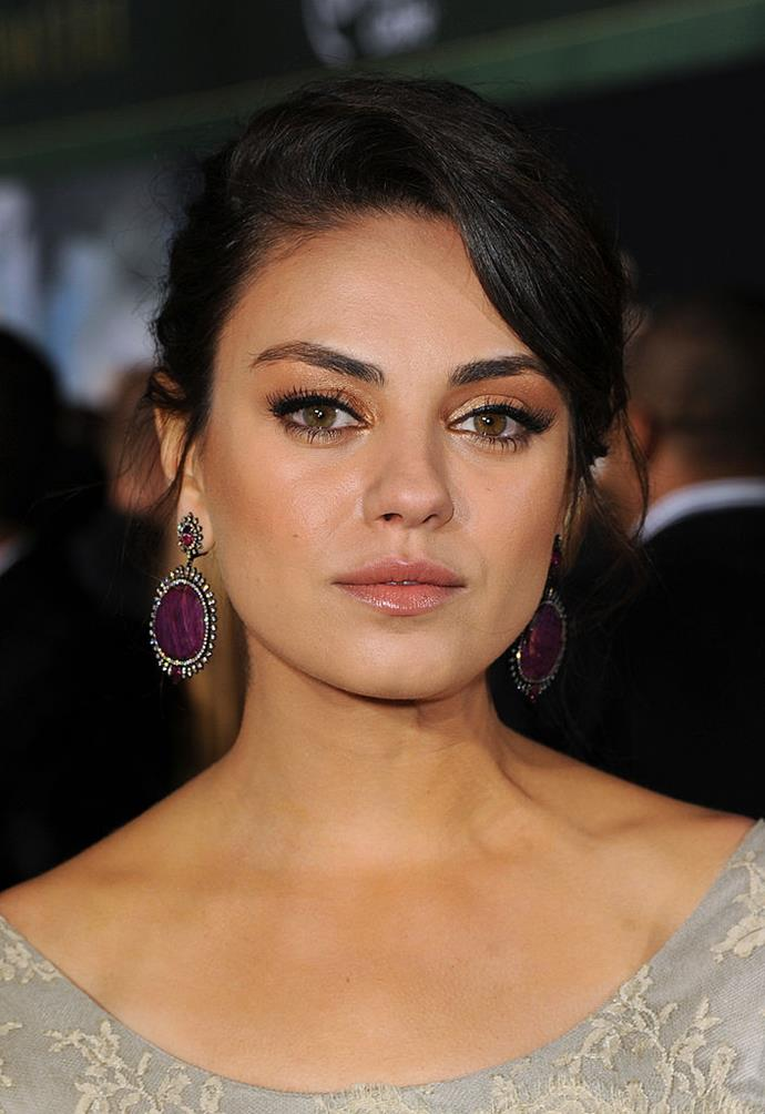 "**Mila Kunis**<br><br>  When Kunis had her first kiss with now-husband Ashton Kutcher, she had just quit smoking. ""She wanted me to, like, shotgun a cigarette smoke so she could breathe it in and I was, like, 'All right,'"" Kutcher said. Since then, the pair have not been seen partaking in the habit."