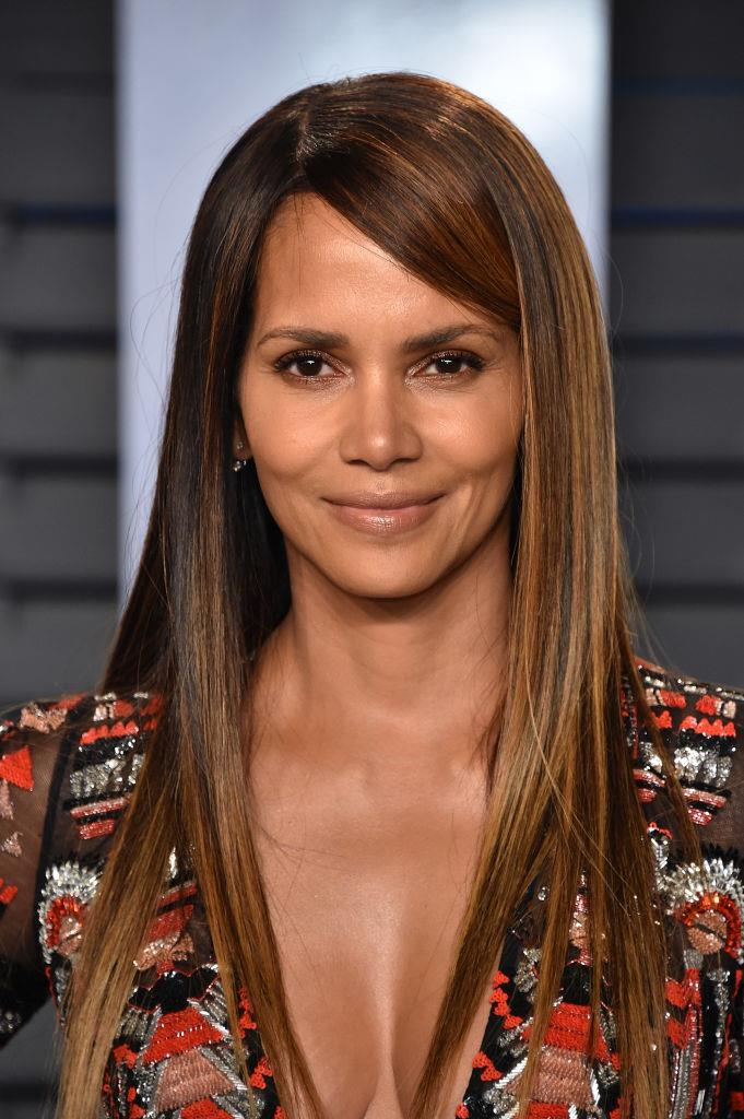 **Halle Berry's long, straight tresses:** Given she was one of the pioneers of the pixie cut in Hollywood, it's still somewhat surprising to see Berry with hair that goes past her shoulders.