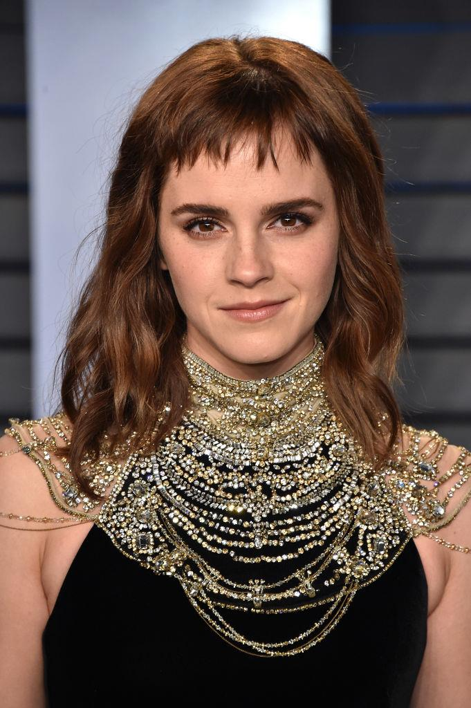 **Emma Watson's mini fringe:** People were understandably shook when Watson stepped out at the 2018 Vanity Fair Oscars After Party sporting this divisive haircut.