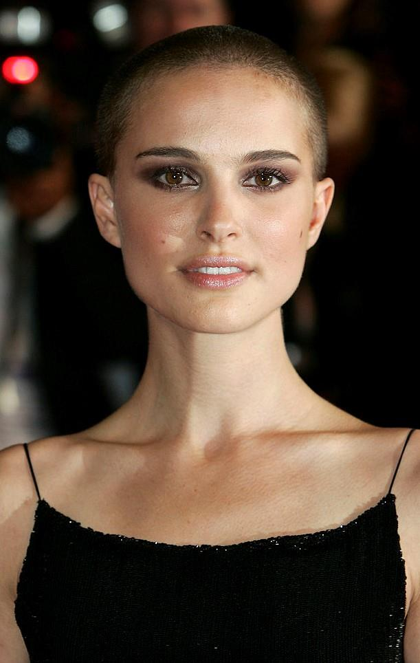 **Natalie Portman's buzzcut:** The actress reminded everyone just how naturally beautiful she truly is when she shaved her head for *V for Vendetta* in 2005.
