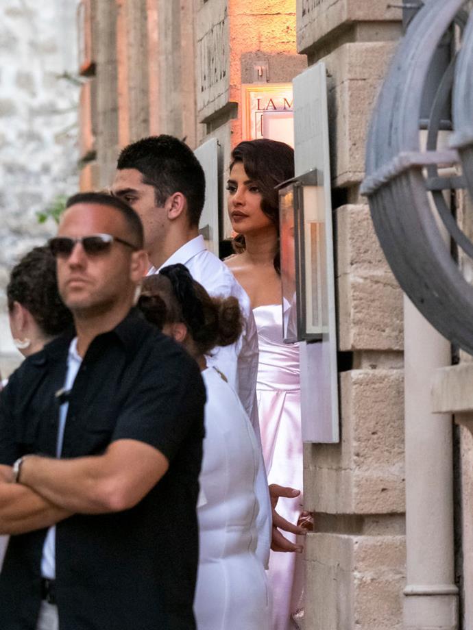 Priyanka Chopra makes her way to Sophie Turner and Joe Jonas' wedding rehearsal dinner,