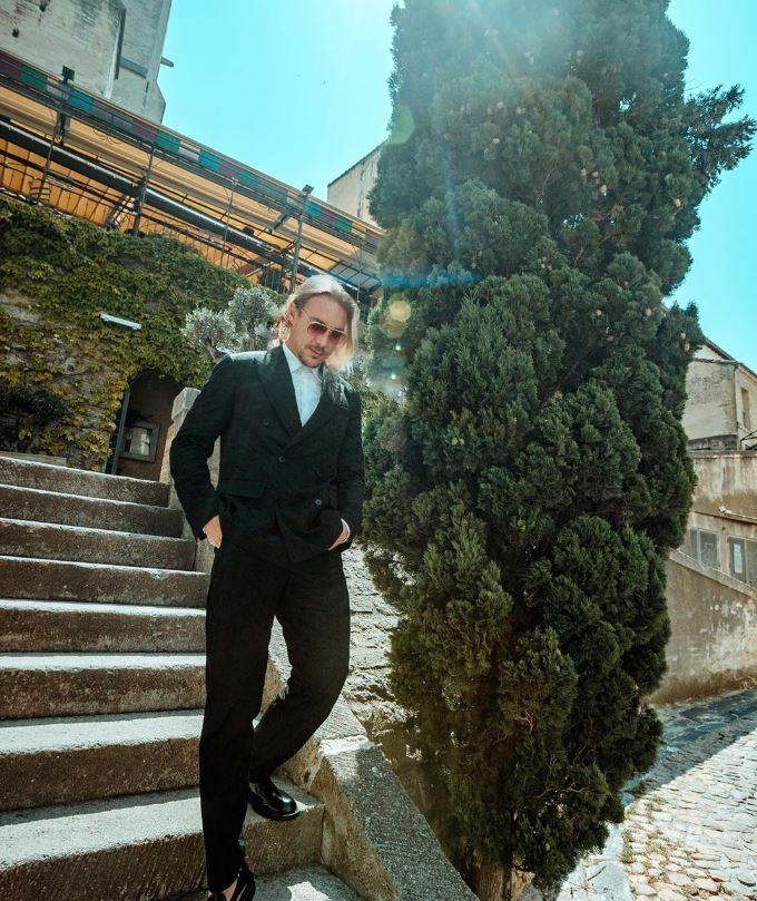 Diplo on the wedding day.