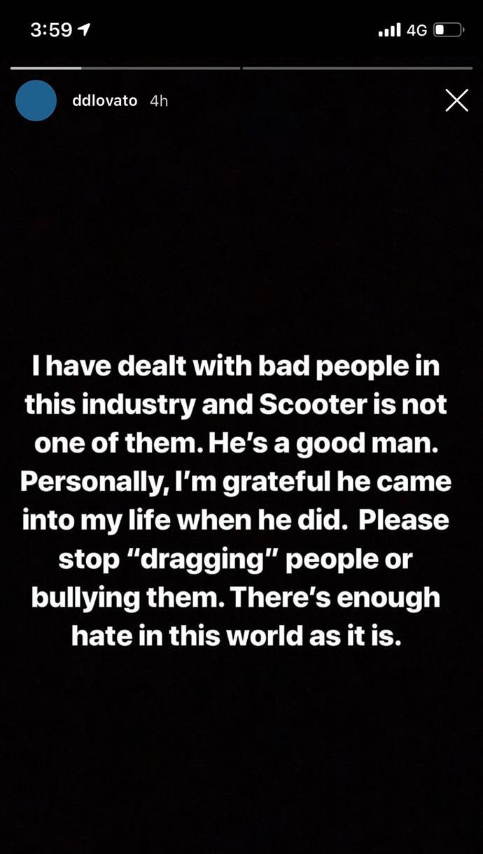 *Instagram @ddlovato*