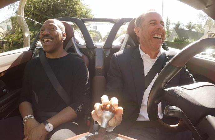 ***Comedians in Cars Getting Coffee: New 2019: Freshly Brewed* (19/07/2019)** <br><br> Jerry Seinfeld's roving talk show combines coffee, laughs and vintage cars into quirky, caffeine-fueled adventures with the sharpest minds in comedy.
