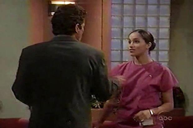 ***General Hospital:*** For one of her first-ever on-screen roles, Meghan had a blink-and-you'll-miss-it cameo as a nurse in medical drama *General Hospital*. You can see her brief scene below.