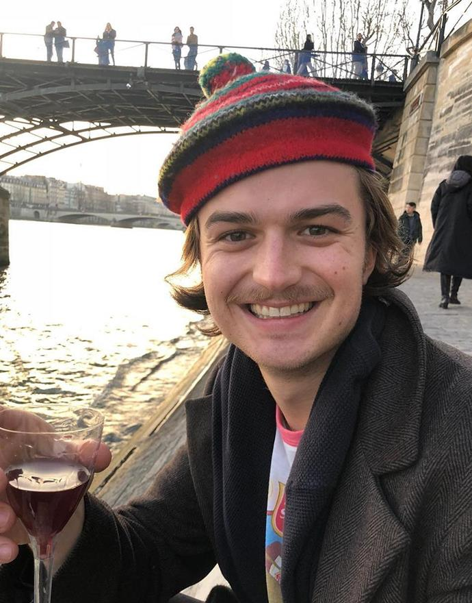 "**Joe Keery as Steve Harrington** <br><br> Get your ""Dad Steve"" memes ready. Exiled prom king Steve Harrington is back and will be scooping up ice-cream at Scoops Ahoy alongside Robin. He and Dustin's bonding scenes are doubled this time around, the pair continuing their fun bromance via a series of new adventures together.  <br><br> Reasons to follow Joe Keery on Instagram: For pics of his dog, Tina, and musings on mullet stylings.  <br><br> *Instagram: [@uncle_jezzy](https://www.instagram.com/uncle_jezzy/