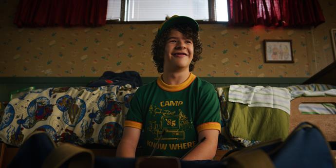 Dustin (played by Gaten Matarazzo) from *Stranger Things*.