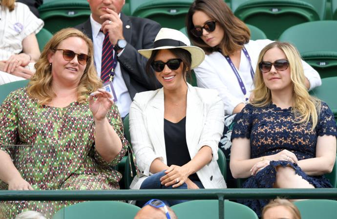 Meghan Markle at Wimbledon, July 4, 2019.