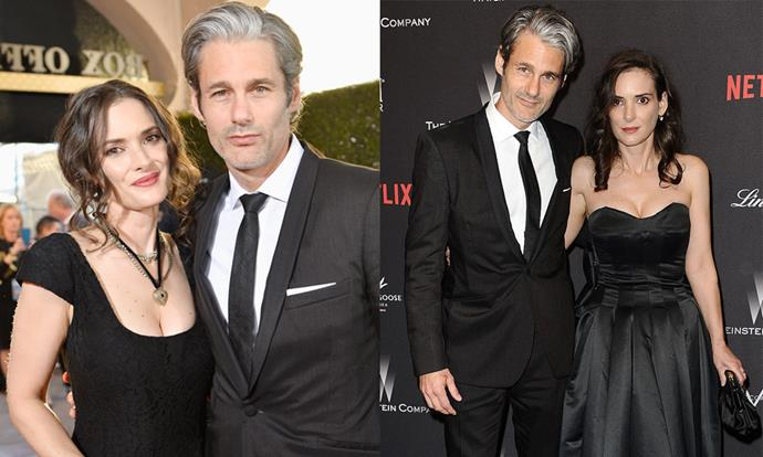 "**Winona Ryder** <br><br> In the '90s, Ryder dated [Johnny Depp](https://www.elle.com.au/celebrity/jessica-chastain-rolls-her-eyes-at-johnny-depp-13057|target=""_blank"") and singer Dave Pirner, and was even linked to Matt Damon. Nowadays, she's in a relationship with sustainable fashion entrepreneur Scott Mackinlay. The two were first spotted together in 2011, and have been in a very private relationship ever since. <br><br> *Images: Getty*"