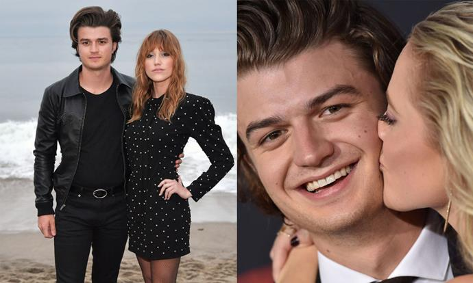 **Joe Keery** <br><br> Keery plays the affable Steve Harrington on the show, and is currently dating 26-year-old actress Maika Monroe, who he met on the set of the 2017 film *After Everything*. <br><br> While neither Keery or Monroe post about each other on social media, they've attended a handful of events and fashion shows together, most recently appearing at Saint Laurent's menswear show in June 2019. <br><br> *Images: Getty*