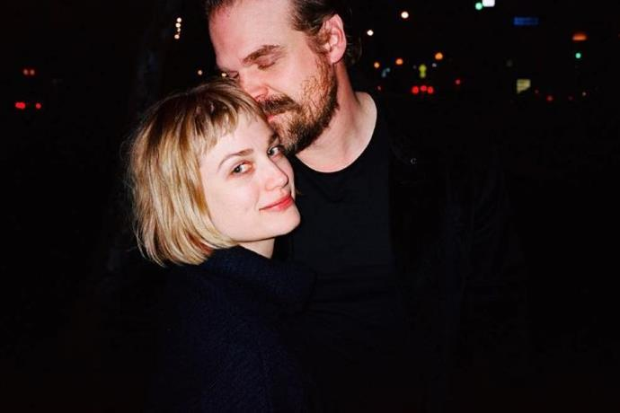 "**Ex-Girlfriend: Alison Sudol** <br><br> While the couple kept their social media PDA to a relative minimum, Sudol shared this sweet snap of her and Harbour in April 2019 with the caption: ""I love this photograph and the person in this photograph with me and the person who took this photograph all very much."" <br><br> They've even paired up for a duet of 'We Wish You A Merry Christmas' which Sudol posted to Instagram. You can watch their sweet singing moment below."
