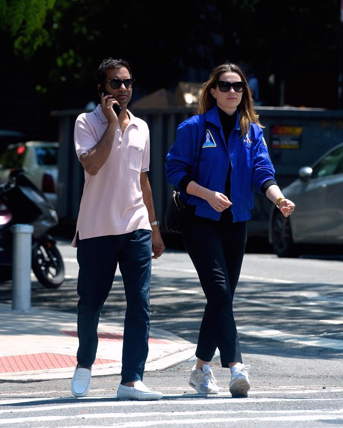 Aziz Ansari with girlfriend Serena Campbell in May 2019.