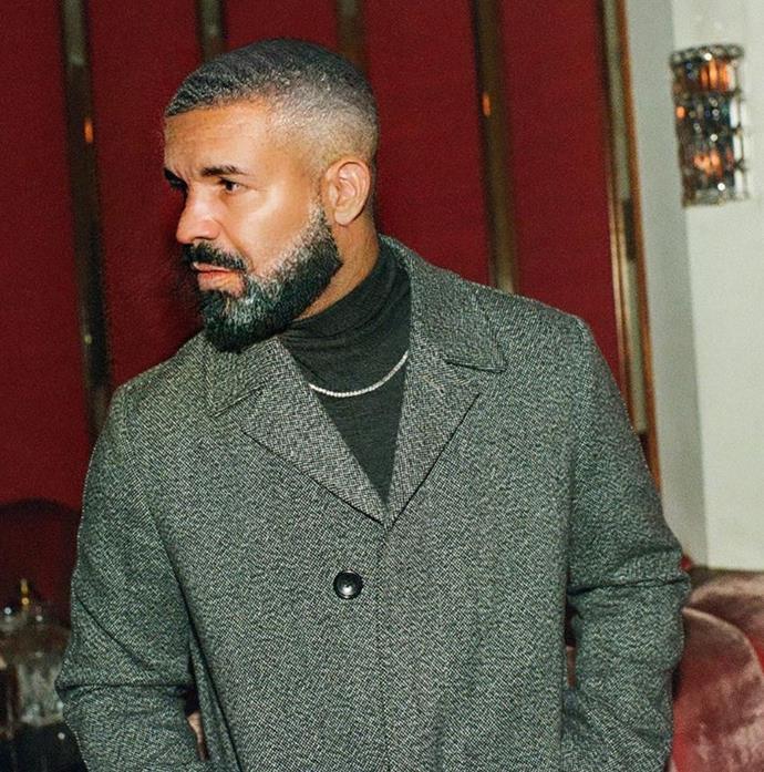 Drake's elderly doppelganger looks quite dapper.