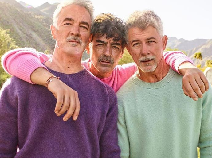 """When you take a trip to the Year 3000,"" the Jonas Brothers joked of their golden oldie group shot."