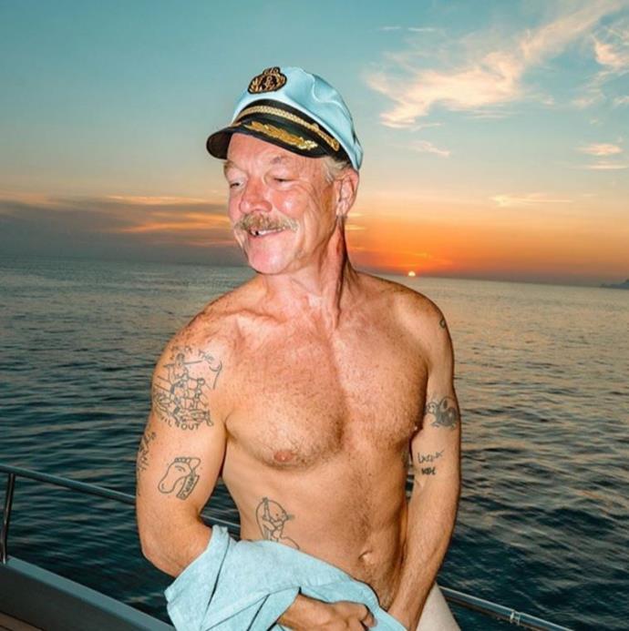 Diplo had a shirtless grandpa moment.