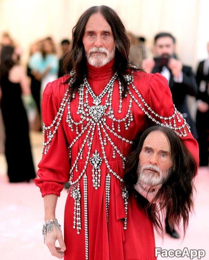 Jared Leto FaceApp-ed his creepy Met Gala moment, and his extra head got the old-age treatment too.