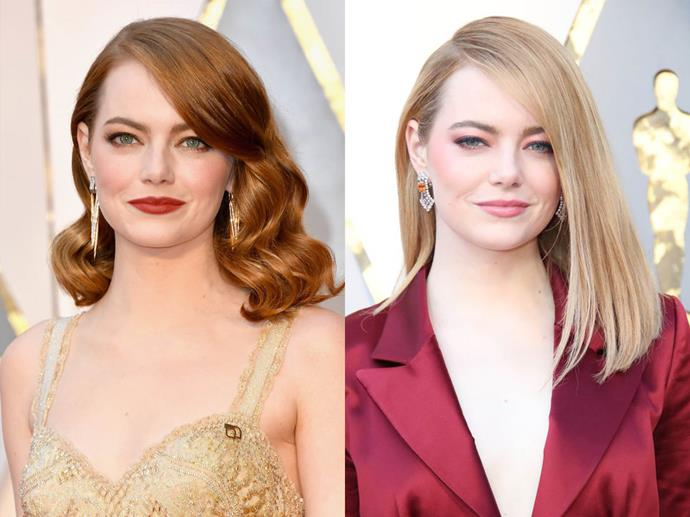 "**Emma Stone**<br><br>  Arguably one of the most famous redheads in Hollywood, Stone is actually actually a blonde who's been dyeing her hair for years.<br><br>  ""I identify most with red hair,"" she said in an interview with *[Stylecaster](https://stylecaster.com/beauty/emma-stone/