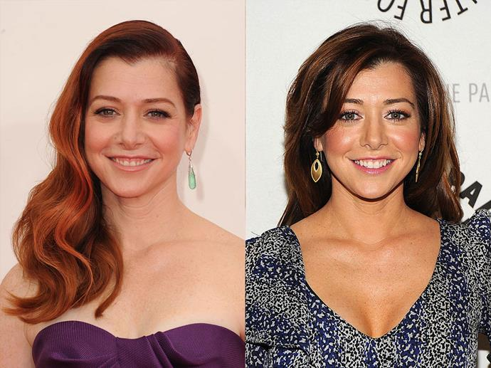 "**Alyson Hannigan**<br><br>  Like many of her fellow actresses, Hannigan also dyed her hair for a role, namely, the character of Willow Rosenberg on hit '90s show *Buffy*. She went from her natural brown to red after being asked by the show's director Joss Whedon to make the switch.<br><br>  ""Joss [Whedon] had us all over to his house,"" she told *[PopSugar](https://www.popsugar.com/beauty/Alyson-Hannigan-Interview-Beauty-Parenthood-High-School-20802740