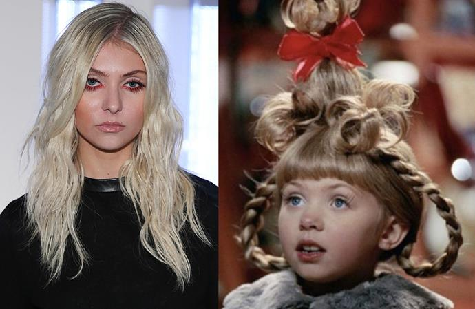 **Taylor Momsen in *How The Grinch Stole Christmas*** <br><br> Before she was moody Jenny Humphrey on *Gossip Girl*, Momsen was the adorable Cindy Lou Who in this 2000 Christmas film.
