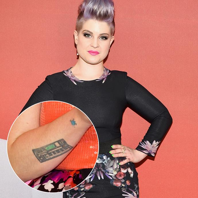***Kelly Osbourne***<br><Br> Some people might regret one or two tattoos, but how about 15? Kelly Osbourne is reportedly in the process of getting up to 15 tattoos—including this keyboard—removed.
