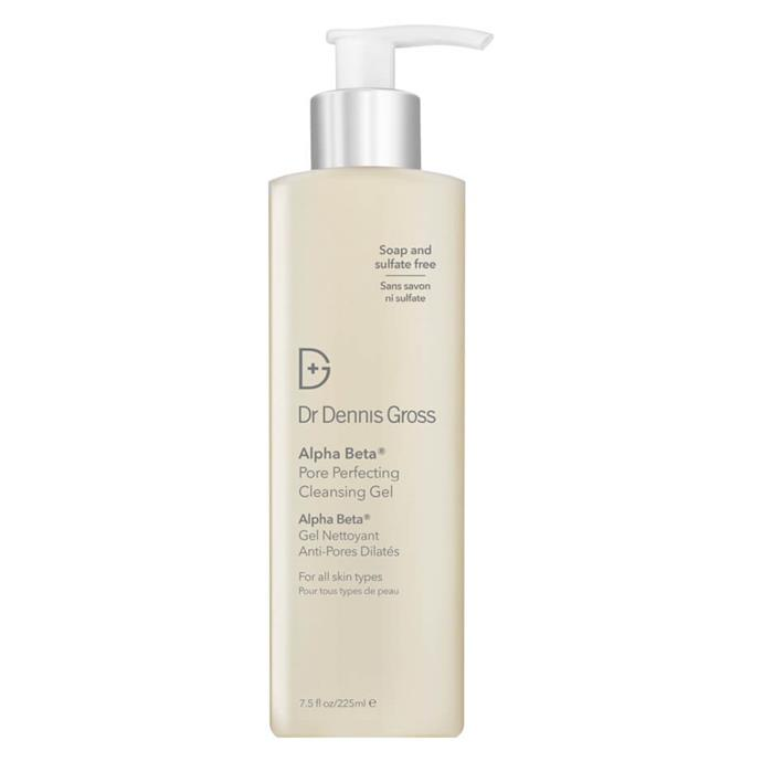 "Alpha Beta Pore Perfecting Cleansing Gel, $58, Dr Dennis Gross at [Mecca](https://www.mecca.com.au/dr-dennis-gross/alpha-beta-pore-perfecting-cleansing-gel/V-032499.html?cgpath=skincare-cleansertoner-cleanser|target=""_blank"")."