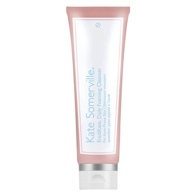 """EradiKate Daily Cleanser, $58, Kate Somerville at [Mecca](https://www.mecca.com.au/kate-somerville/eradikate-daily-cleanser/I-027175.html?cgpath=skincare-cleansertoner-cleanser