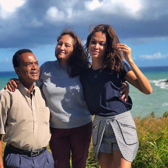 Joan Smalls with her parents.
