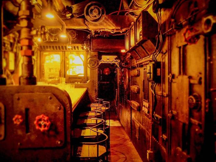 "**SHINKA, Osaka**<br><br>  For a truly unique experience, it doesn't get much better than SHINKA bar in Osaka. Located in a quiet residential area, this one-of-a-kind bar is a secluded, subterranean hotspot that's been partially built out of real submarines! <br><br>  It is a bit tricky to locate, with no signage and a stroll down a narrow, nondescript alley required, but if you search for 'Deepening Submarine Bar' in Google Maps, you'll at least get started (although it's still tricky to find once you get there!).<br><br>  *1 Chome-1-7 Andojimachi, Chuo Ward, Osaka, 542-0061, Japan*<br><br>  *Image via [moratame.net](http://www.moratame.net/wp/llabo/bar_shinka/|target=""_blank""