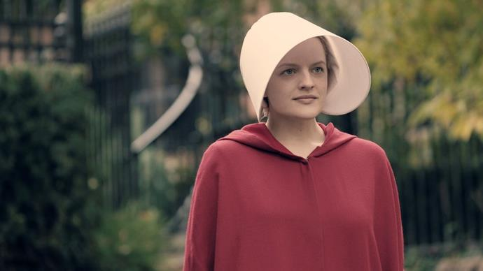 ***The Handmaid's Tale*** **(season two premieres 1/8/19)**<br><br>  Based on the best-selling book by Margaret Atwood, *The Handmaid's Tale* is set in a dystopian near future, where a totalitarian society faced with a plummeting birth rate and a fundamentalist religious regime forces fertile women to bear children for affluent families.