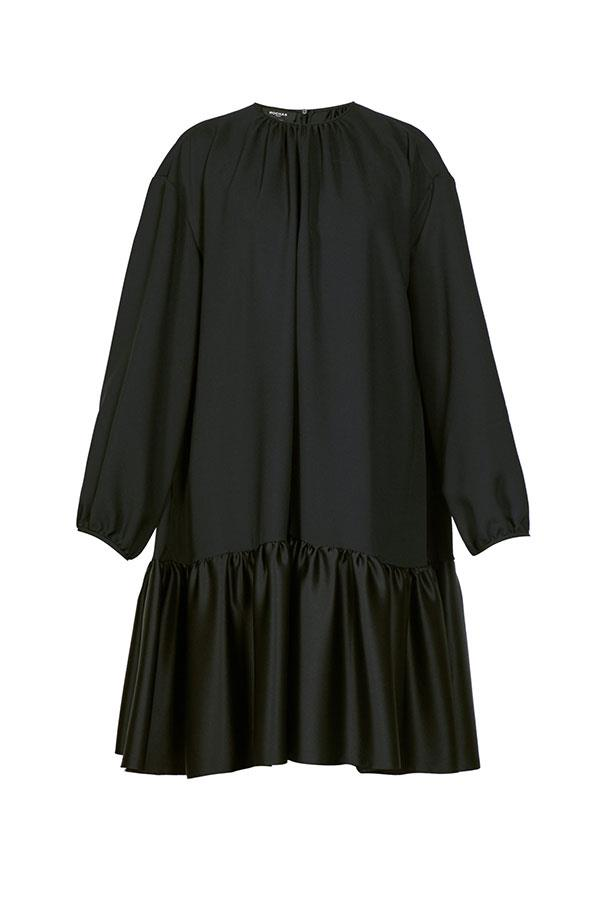 "Dress by Rochas, $2,046 at [MATCHESFASHION.COM](https://www.matchesfashion.com/au/products/Rochas-Tie-back-gathered-crepe-dress-1294788|target=""_blank""