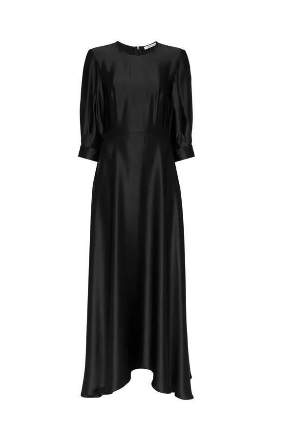 "Dress by Deitas, $609 at [Farfetch](https://www.farfetch.com/au/shopping/women/deitas-ada-puff-sleeve-silk-dress-item-13357977.aspx?storeid=9359|target=""_blank""|rel=""nofollow"")"