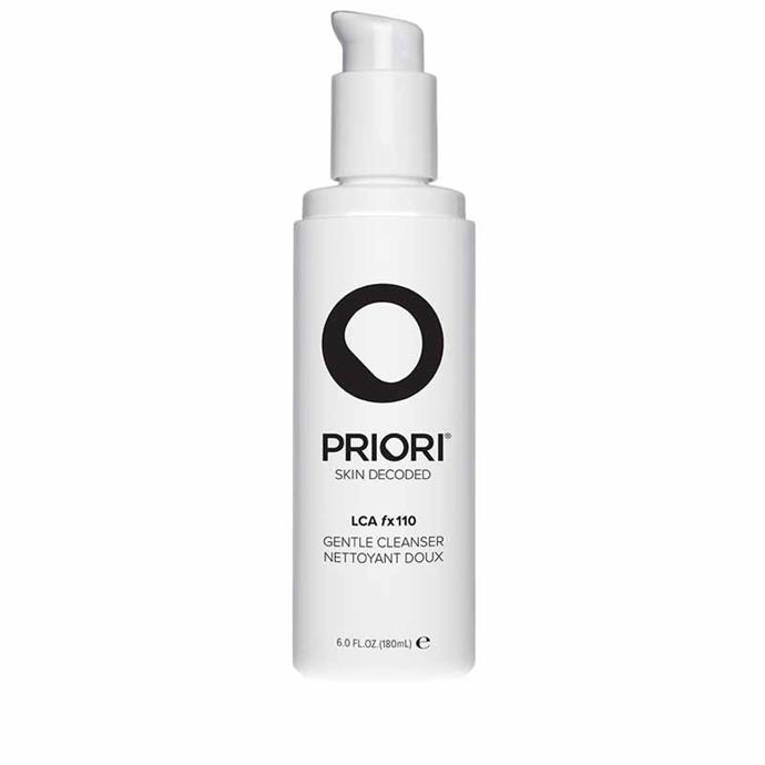 "**Best for sensitive skin** <br><br> Sensitive skin types do not need to sit on the sidelines of the acid game. Priori's Anti-Irritant Complex in combination with Vitamins A, C and E soothes and hydrates the skin while a low dose of salicylic acid cleanses away dirt, oil and makeup residue. <br><br> LCA fx110 Gentle Cleanser, $55, Priory at [AdoreBeauty](https://www.adorebeauty.com.au/priori/priori-lca-fx110-gentle-cleanser.html|target=""_blank"")"