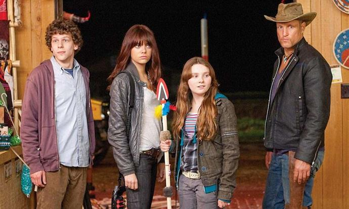 **Zombieland (01/08/2019)** <br> A shy student trying to reach his family in Ohio, a gun-toting tough guy trying to find the last Twinkie, and a pair of sisters trying to get to an amusement park join forces to travel across a zombie-filled America.