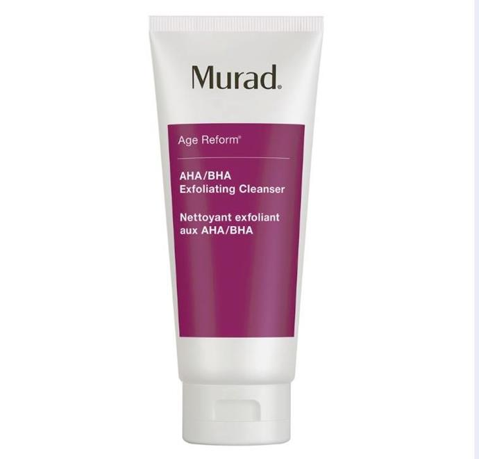 "**The triple threat** <br><br> If you're serious about exfoliation, this is the mother of all cleansers for you. Combining the powers of physical exfoliating agents and salicylic, lactic and glycolic acids, Murad's much-loved cleanser combats impurities and dead skin on all fronts, leaving you polished and without a bump in sight. <br><br> AHA/BHA Exfoliating Cleanser, $62, Murad at [Sephora](https://www.sephora.com.au/products/murad-aha-slash-bha-exfoliating-cleanser/v/default?dxid=CjwKCAjw1f_pBRAEEiwApp0JKEIuy4r7CGVTlQU_ujmqHCeSvNdCgCfX3SkoUSyWqSoyQzqg-kFOFBoCni4QAvD_BwE&dxgaid=CjwKCAjw1f_pBRAEEiwApp0JKEIuy4r7CGVTlQU_ujmqHCeSvNdCgCfX3SkoUSyWqSoyQzqg-kFOFBoCni4QAvD_BwE&gclid=CjwKCAjw1f_pBRAEEiwApp0JKEIuy4r7CGVTlQU_ujmqHCeSvNdCgCfX3SkoUSyWqSoyQzqg-kFOFBoCni4QAvD_BwE|target=""_blank"")"