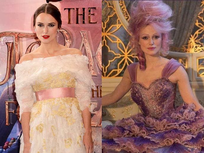 **Keira Knightley channelling the Sugar Plum Fairy from** ***The Nutcracker and the Four Realms***<br><br>  Echoing the fairy-tale charm of her character's onscreen costume, Keira Knightley hit the London premiere of *The Nutcracker and the Four Realms* in a frothy Chanel gown with layers of organza.