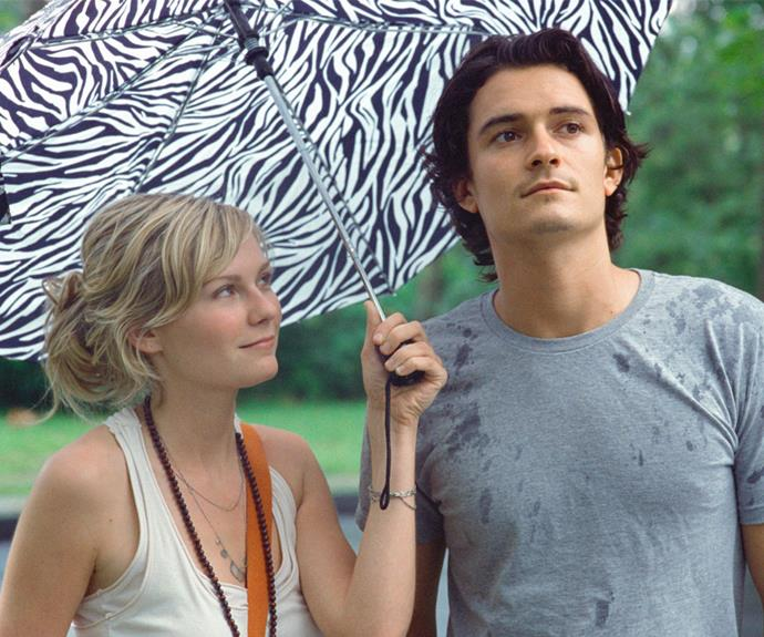 ***Elizabethtown*:** During a trip back to his hometown after his father's death, a depressed young man (played by Orlando Bloom) unexpectedly finds love with a charming flight attendant (Kirsten Dunst) who helps him see the positives again.