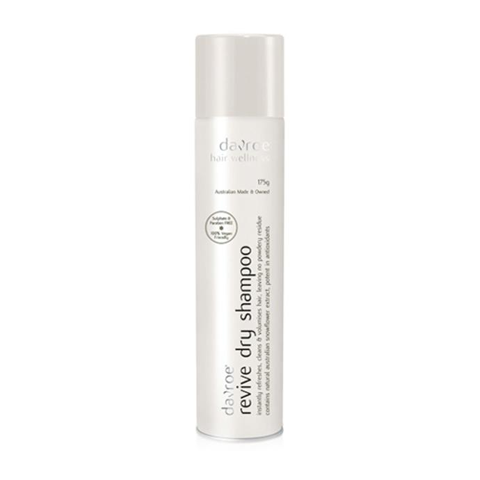 """Davroe's products are all about giving relief to the scalp. Their dry shampoo is mild and gentle so that your hair is refreshed without leaving a powdery residue. <br><br>  **Davroe Revive Dry Shampoo, $27.95 from [Oz Hair & Beauty](https://www.ozhairandbeauty.com/products/davroe-scalp-remedy-revive-dry-shampoo-175g