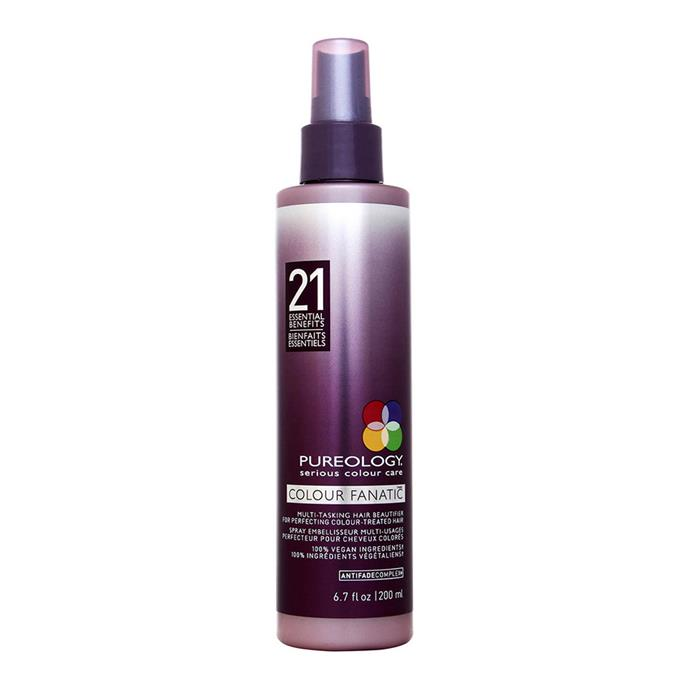 """Coloured hair need extra love, and Pureology have made this  UV-protecting and antioxidant hair treatment to keep your colour for longer. <br><Br>  **Pureology Colour Fanatic Multi-Tasking Beautifier, $44.95 from [Adore Beauty](https://www.adorebeauty.com.au/pureology/pureology-colour-fanatic.html