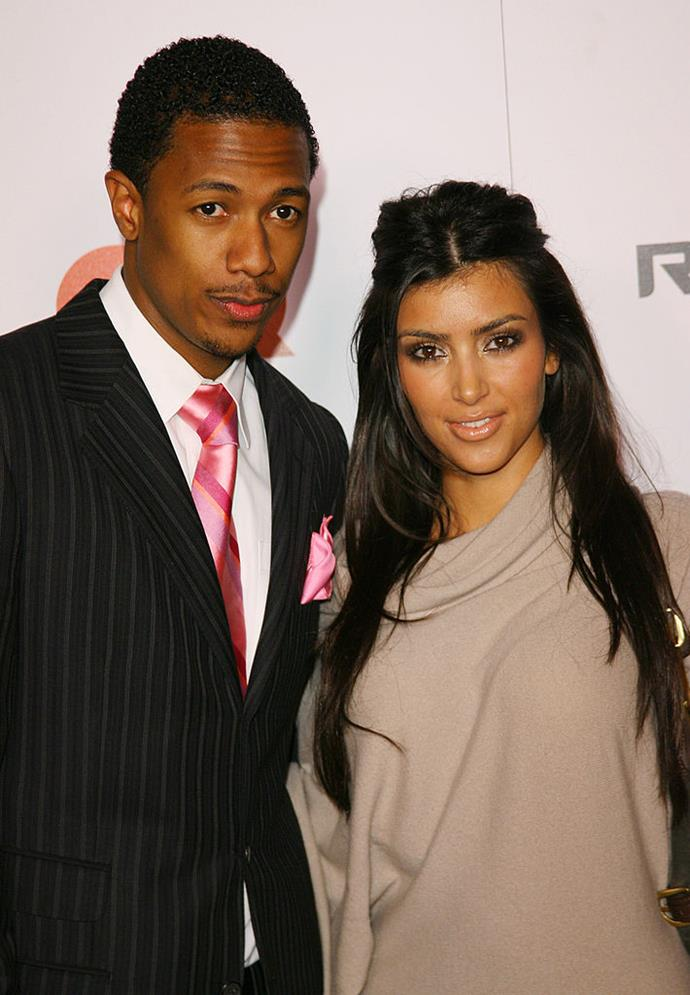 "**Kim Kardashian and Nick Cannon**<br><br>  Although this one technically never eventuated (and we almost forget they even dated), Nick Cannon [allegedly](https://www.cosmopolitan.com/entertainment/celebs/news/a15425/nick-cannon-kim-kardashian/|target=""_blank""