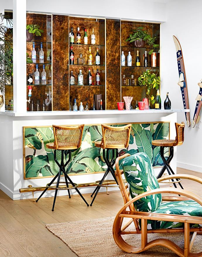 "**The bar**<br><br>  *Image via Trevor Tondro for [Architectural Digest](https://www.architecturaldigest.com/story/inside-cara-and-poppy-delevingnes-playful-los-angeles-retreat|target=""_blank""
