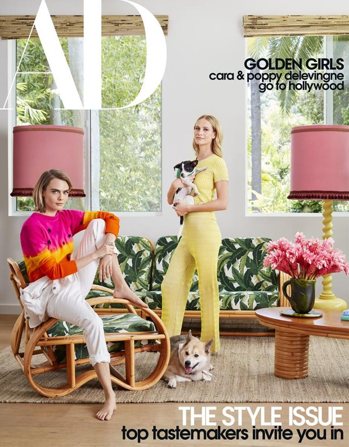 "**The cover**<br><br>  See more photos and read the interview at *[Architectural Digest](https://www.architecturaldigest.com/story/inside-cara-and-poppy-delevingnes-playful-los-angeles-retreat|target=""_blank""
