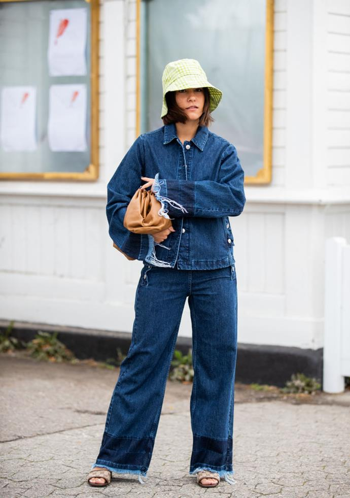 **Bucket hats are back, too** <br><br> Bucket hats get a bad wrap. With the right outfit, they have the potential to look chic—and that's before we even get to the UV protection benefits, FYI.