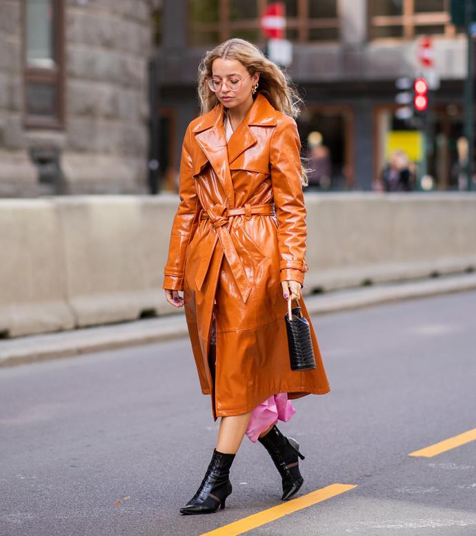 A tan version (a guest at Oslo Fashion Week spring/summer '19).