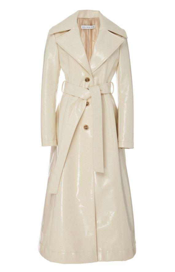 "*'Rhea' ivory vinyl coat by Rejina Pyo, $1,945 at [Moda Operandi](https://www.modaoperandi.com/rejina-pyo-pf19/rhea-belted-vinyl-coat?|target=""_blank""|rel=""nofollow"").*"