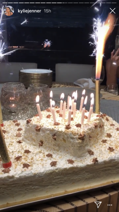 """The birthday cake was cool, but not nearly as lovely as her daughter Stormi singing happy birthday.<br><br>  *Image via [@kyliejenner](https://www.instagram.com/kyliejenner/