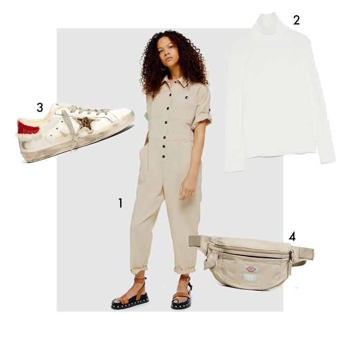 "1, Boilersuit by Topshop, $109.95 at [The Iconic](https://www.theiconic.com.au/boiler-suit-884044.html|target=""_blank""