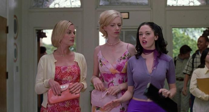 ***Jawbreaker*** **(1999)**<br><br>  A black comedy from 1999, *Jawbreaker* is the story of an exclusive clique of high school socialites who accidentally murder their best friend and then conspire to cover up the truth.