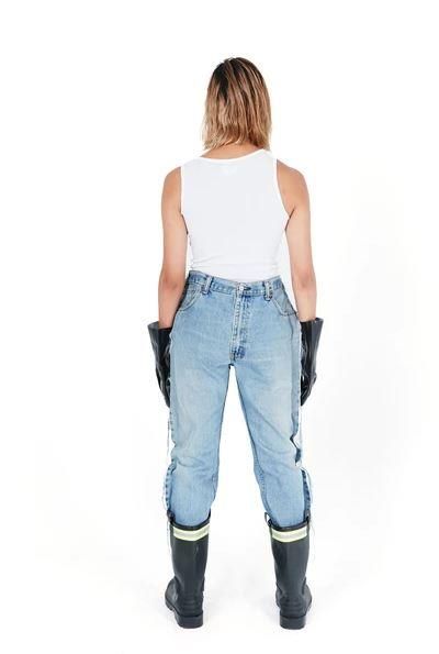 "ØBLANC™ Double Front Frayed Jeans, approximately $257 from [ØBLANC™](https://shopoblanc.com/products/draft-4|target=""_blank""